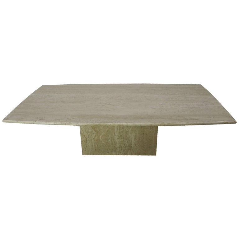1960 Travertine Coffee Table