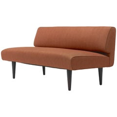 Channel Back Settee by Edward Wormley for Dunbar