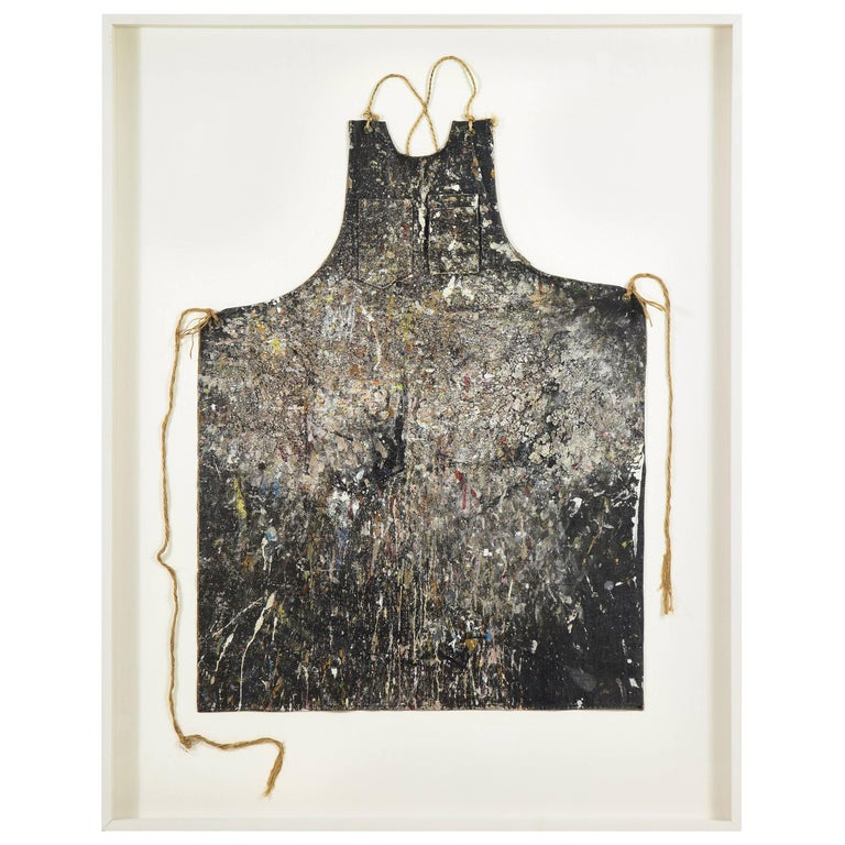 Adja Yunkers Artist's Apron, Mounted and Framed For Sale