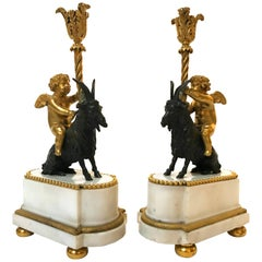 Pair of 19th Century French Figural Candlestands