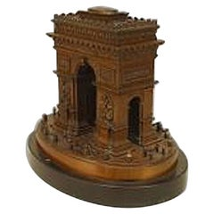 French 19th-20th Century Bronze Model of the Arc de Triomphe