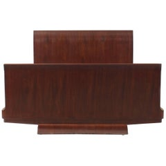 French Art Deco Mahogany Full/Queen-Size Bed