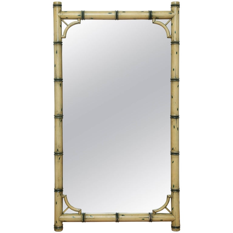 Painted Faux Bamboo Mirror