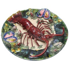 Majolica Lobster Charger
