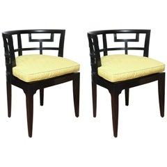 Pair of Slipper Chairs by Edward Ferrell