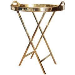 Brass Tray on Stand