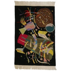 "Contemporary Abstract Tapestry Inspired by Wassily Kandinsky's ""Composition X"""