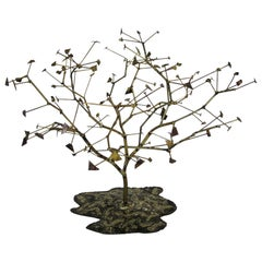 Curtis Jere Style Metal Art Tree Sculpture