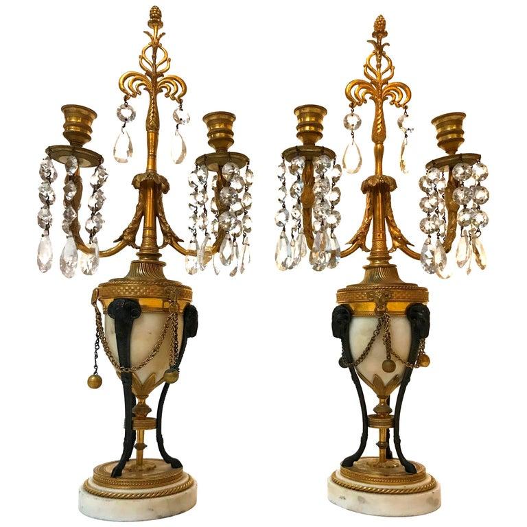 Pair of 19th Century French Girandoles