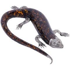 Midcentury Lizard Sculpture