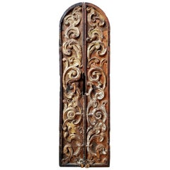 Pair of 18th Century Spanish Colonial Tabernacle Doors
