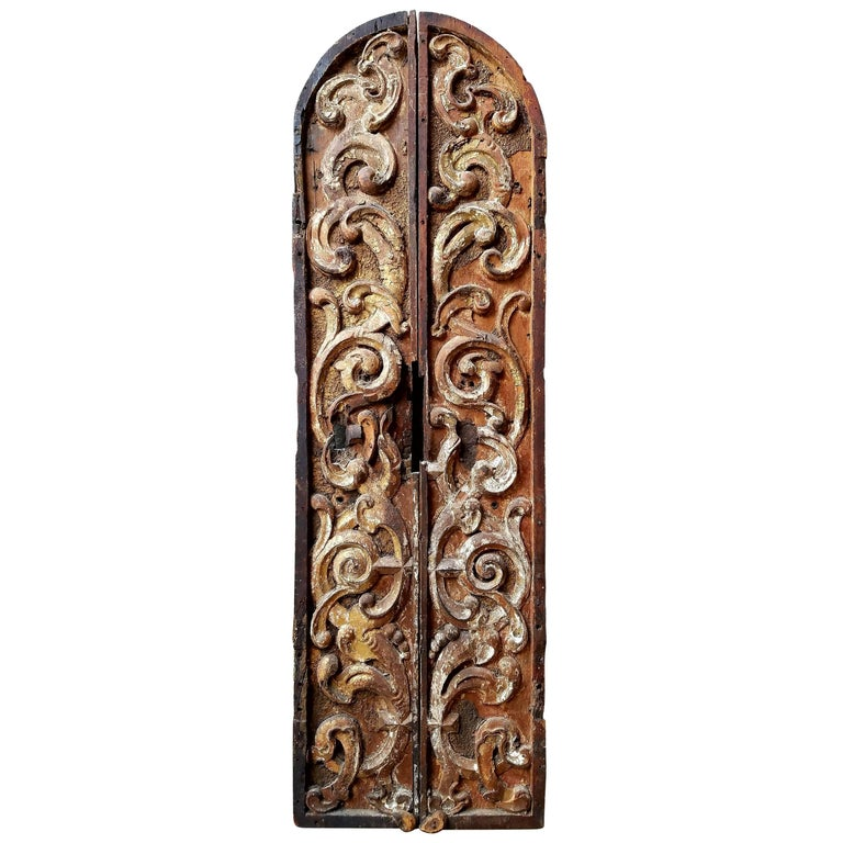 Pair of 18th Century Spanish Colonial Tabernacle Doors