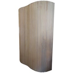 Screen or Room Divider in Pickled Oak
