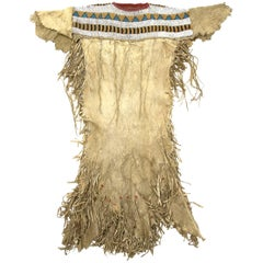 Classic Period Native American Beaded Dress, Blackfeet 'Plains', circa 1860