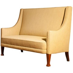 1950s, Scandinavian High Back Sofa Couch