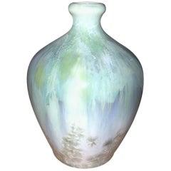 Royal Copenhagen Art Nouveau Crystalline Vase by Valdemar Engelhardt #682