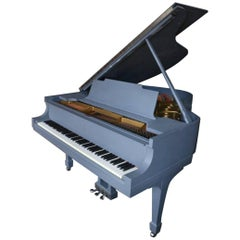 "Grey ""Slate Steinway"" Grand Piano Model M Custom Hand-Painted Modern Minimalist"