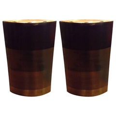 Michael Aram Large Patinated Brass Candleholders