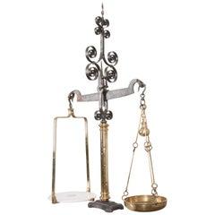 English 19th Century Iron and Brass Weighing Machine