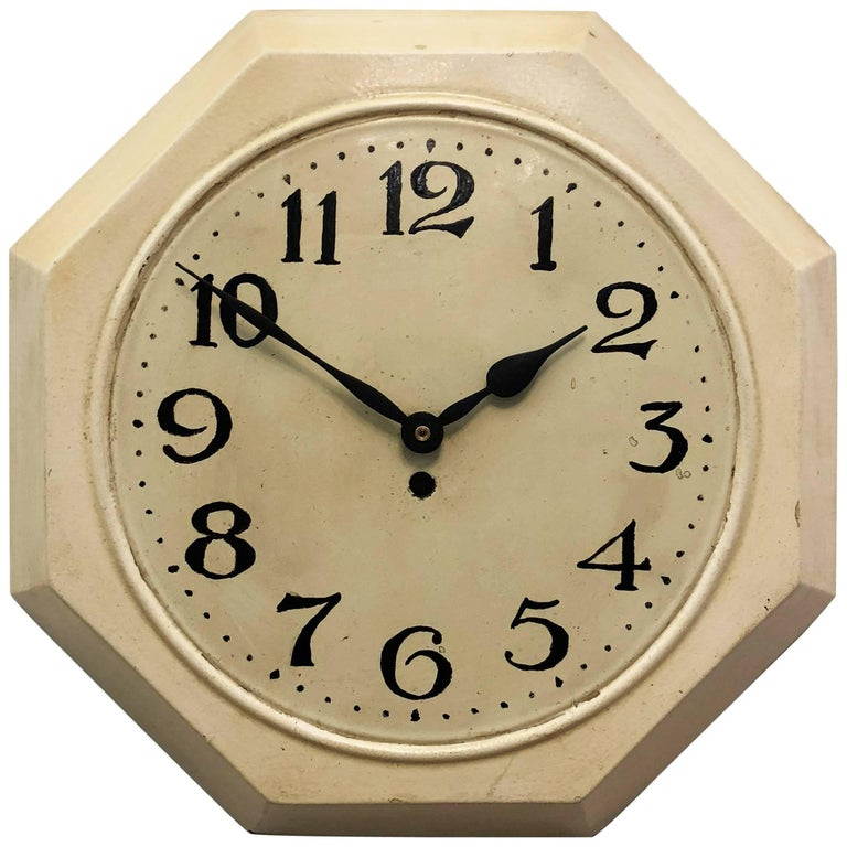 Art Deco Wall Clock In the Style of Adolf Loos
