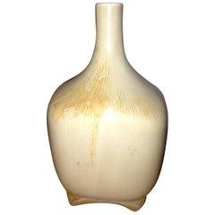 Royal Copenhagen Art Nouveau Crystalline Vase by Søren Berg