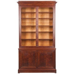 French 19th Century Mahogany Louis Philippe Bibliothèque