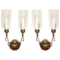 Pair of Anglo-Indian Two-Light Sconces