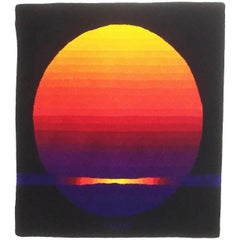"Modernist German Wall Rug ""Sun"" Ewald Kröner Schloss Hackhausen Germany, 1970s"