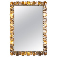 Bakalowits and Sohne Austrian Crystal Framed Mirror, circa 1960