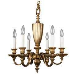 Antique Bronze Chandelier, circa 1920