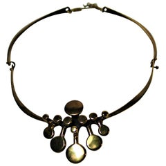 Richard Lawless Bronze Brutalist Necklace