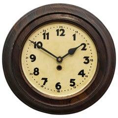 Steel Art Deco Wall Clock