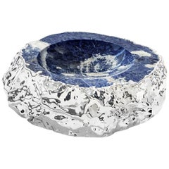 Cascita Small Bowl Indigo and Silver, in Stock