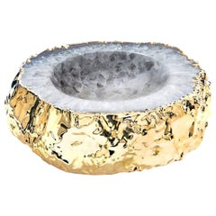 Cascita Small Bowl Natural Agate and Gold, in Stock