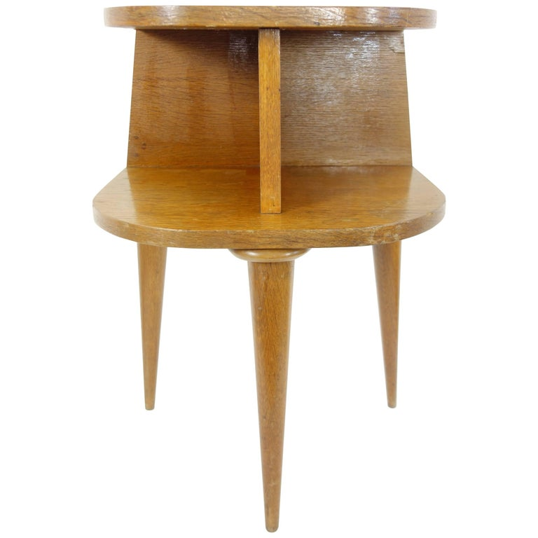 French Two-Tiered Tripod Side Table