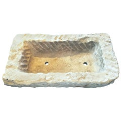 18th Century French Stone Trough Planter