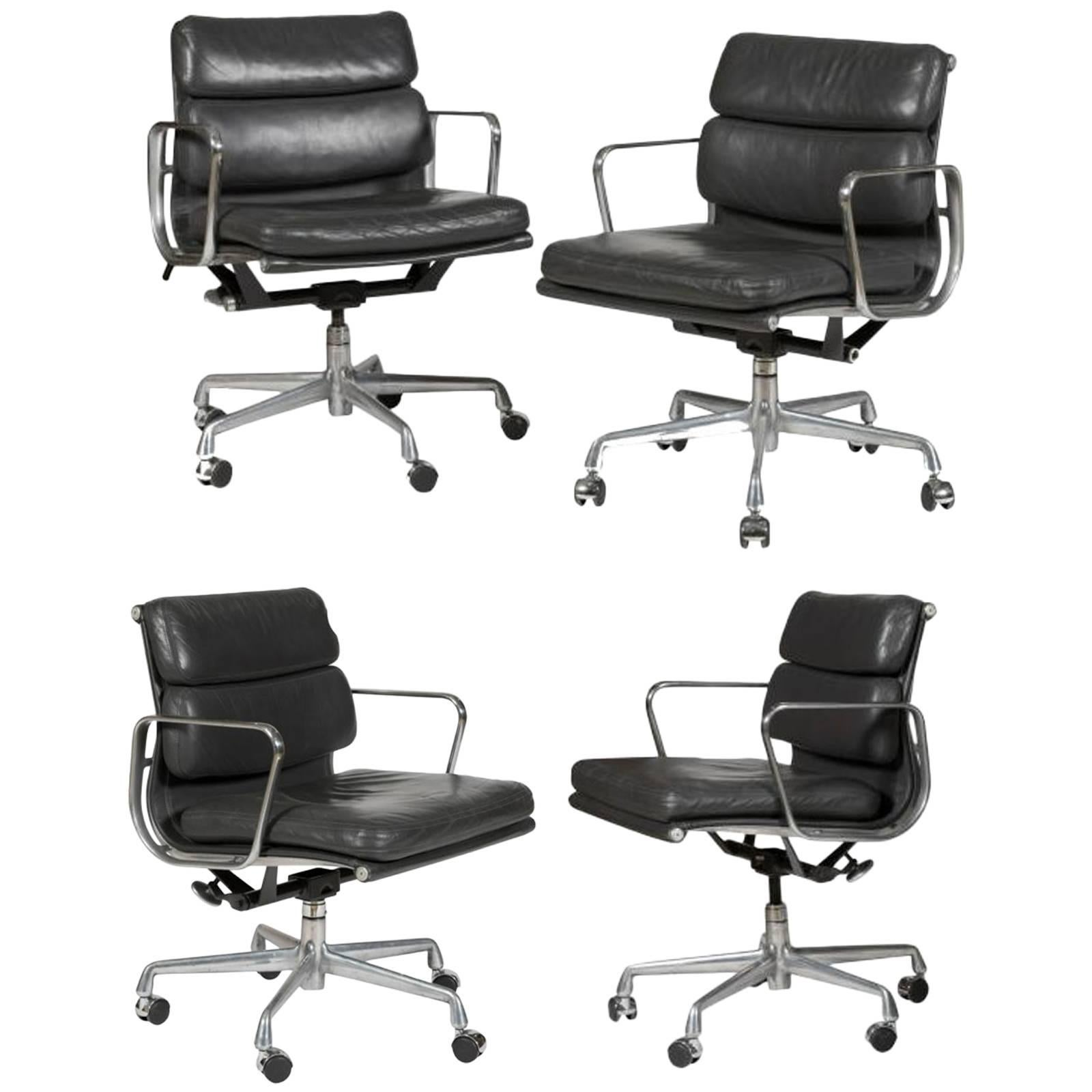 Four Eames For Herman Miller Soft Pad Chairs