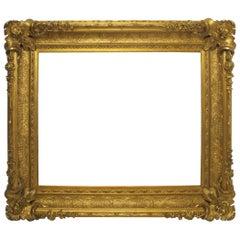 Large 19th Century Custom Museum Gilt painting/mirror Frame