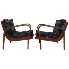 Pair of 1950 Ashwood Italian Midcentury Armchairs