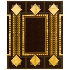 (After) Frank Lloyd Wright, Imperial Square Silk and Wool Rug
