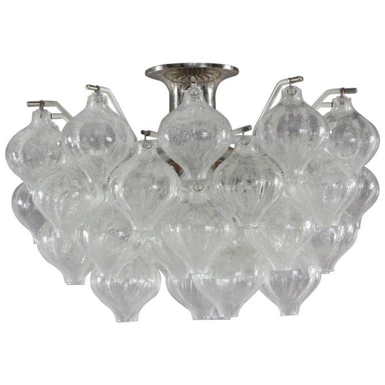 Crystal Glass Chandelier Tulipan Designed J. T. Kalmar, Austria