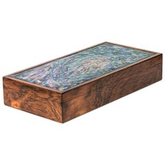 Alfred Klitgaard Handcrafted Box in Rosewood and Enamel by Alfred Klitgaard