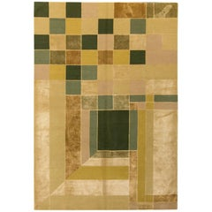 (After) Frank Lloyd Wright Garden Windows Rug, Silk and Wool Hand-Knotted