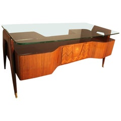 Large Midcentury Italian Executive Desk by Vittorio Dassi