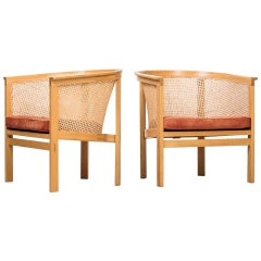 Rud Thygesen & Johnny Sørensen Easy Chairs Model 7701 by Botium in Denmark