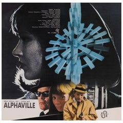 """Alphaville"" Original Japanese Movie Poster"