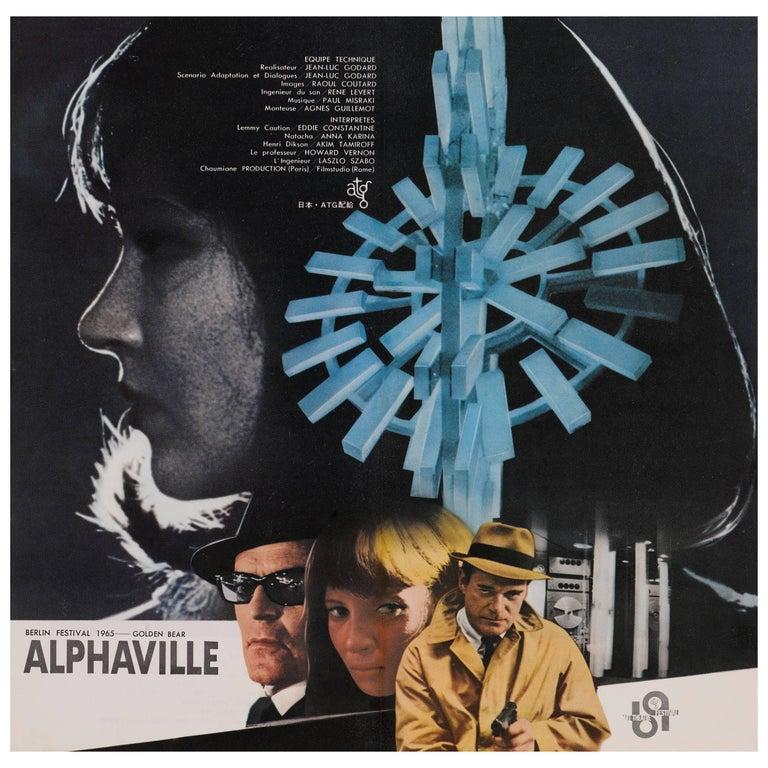 """""""Alphaville"""" Original Japanese Movie Poster For Sale"""