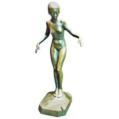 Carin Johanna Nilsson, Fright, Swedish Art Deco Bronze Sculpture, circa 1933