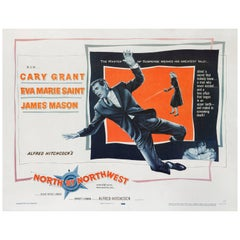"""North by Northwest"" Original American Movie Poster"
