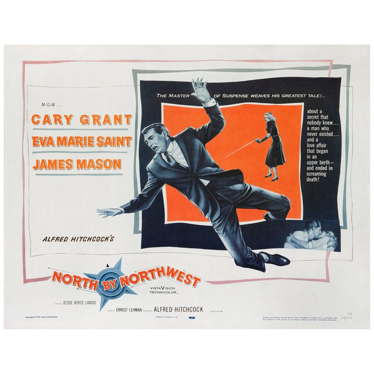 """North by Northwest"" Original American Movie Poster For Sale"